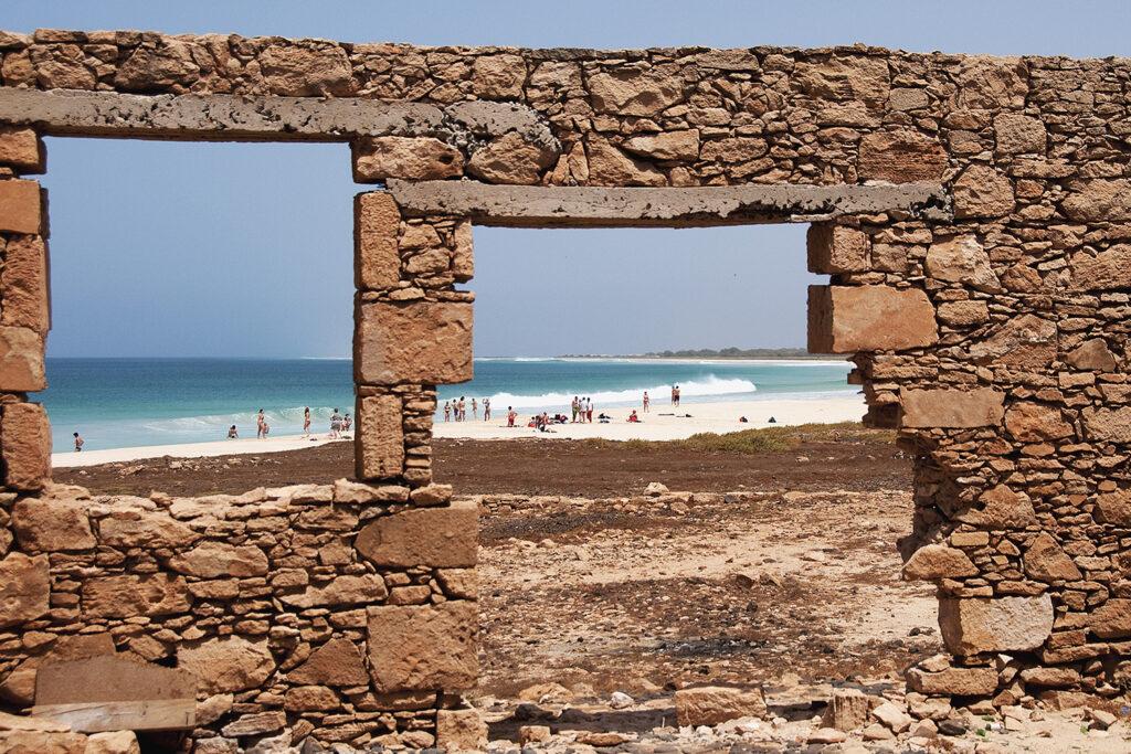 Strand op het Kaapverdische eiland Boa Vista