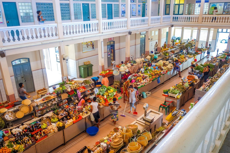 Overdekte markt in Mindelo São Vicente