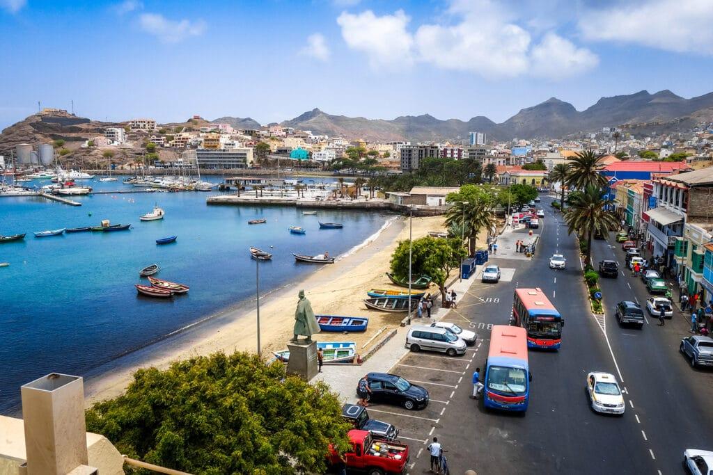 Kaapverdië Sao Vicente Mindelo straat
