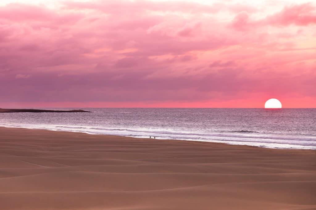 Zonsondergang op het strand van Boa Vista