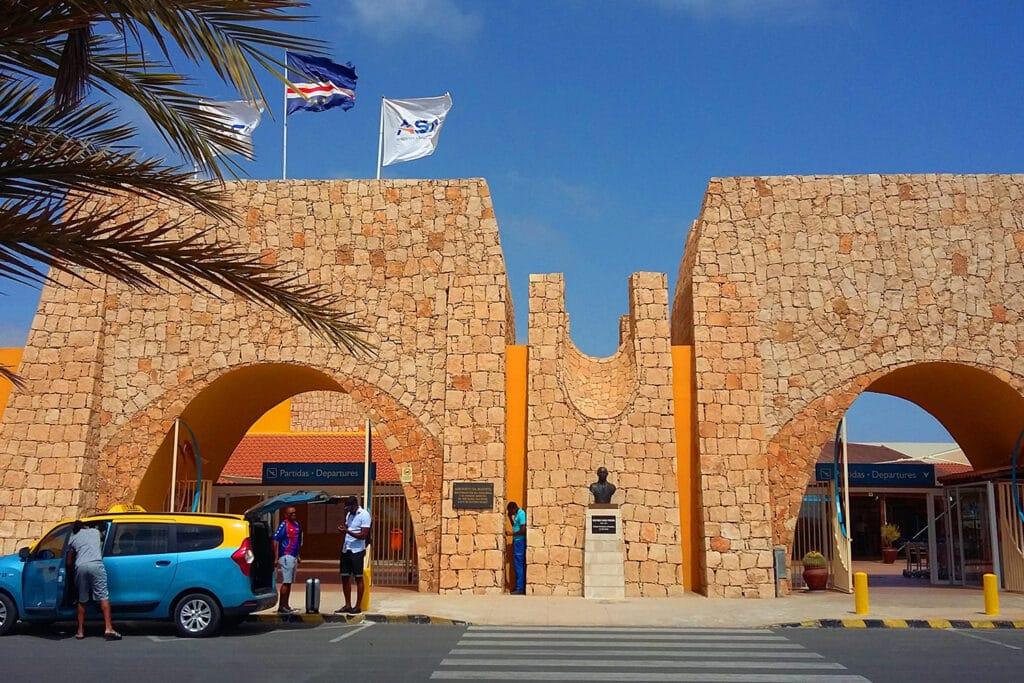 Luchthaven Rabil Internationaal op het eiland Boa Vista