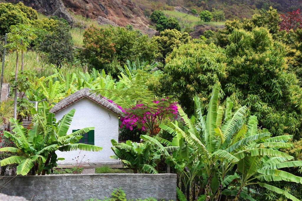 Kaapverdië, Santo Antao, groen, bergen, huisje