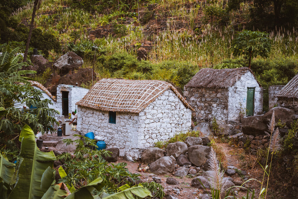 Huisje op het eiland Santo Antao, Kaapverdië