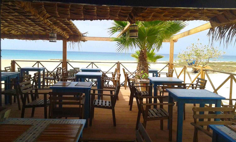 Leme Bedje appartementen, hotel, Sal Kaapverdië, Santa Maria, Columbus restaurant