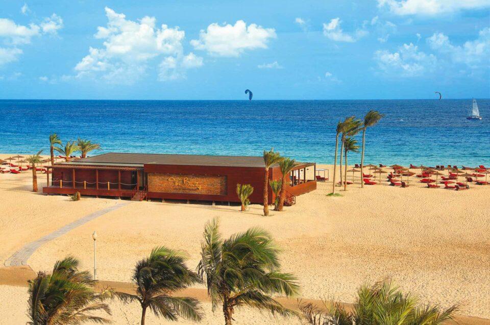 Hilton resort op het strand van Sal, Kaapverdië